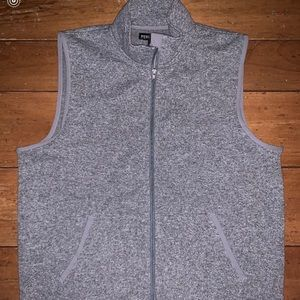 Grey jcrew fleece vest